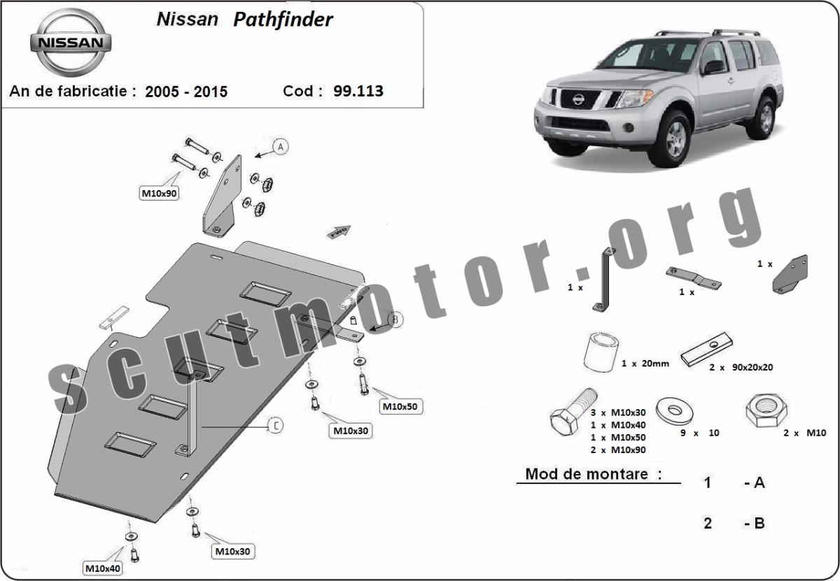 Scut rezervor Nissan Pathfinder D40 fabricat între 2005-2015