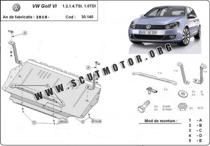 Scut auto Volkswagen VW Golf 6 dupa 2009