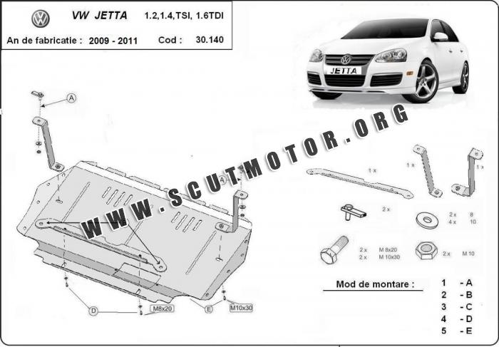 Scut auto Volkswagen VW Jetta 2009-2011