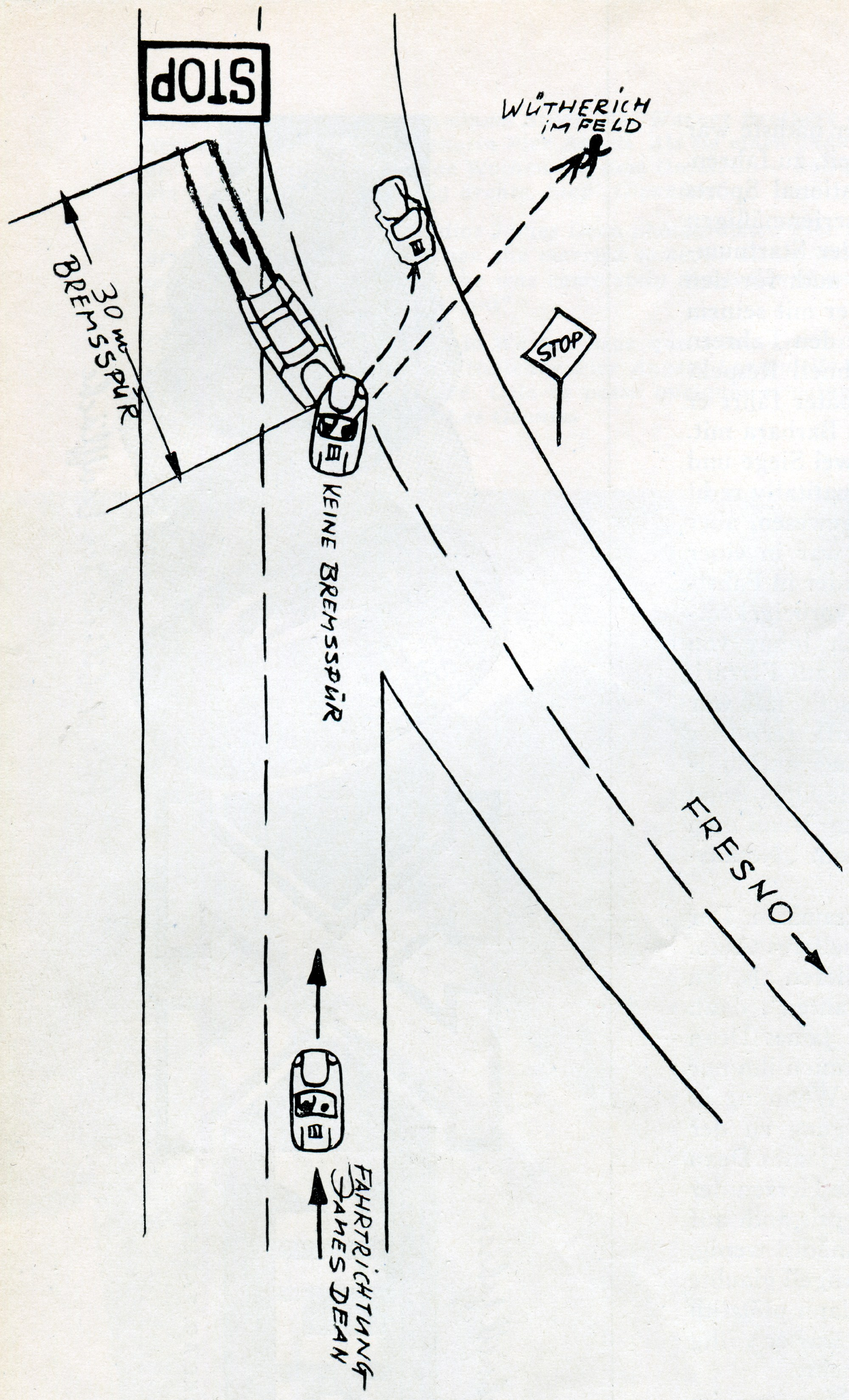 hight resolution of direction and position of the vehicles in the collision shown in a hand drawn sketch by rolf w therich click to enlarge