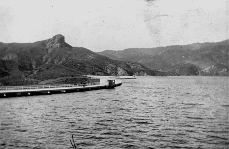 """Not """"the"""" last, but one of the last photos of the St. Francis Dam intact. Photograph 3-9-1928."""