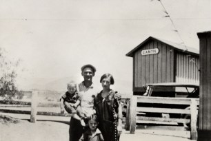 Tony Harnischfeger, probably 1926. (Seen here with his ex-wife, not his girlfriend who perished with him when the dam broke.) Coder is seen at the bottom.
