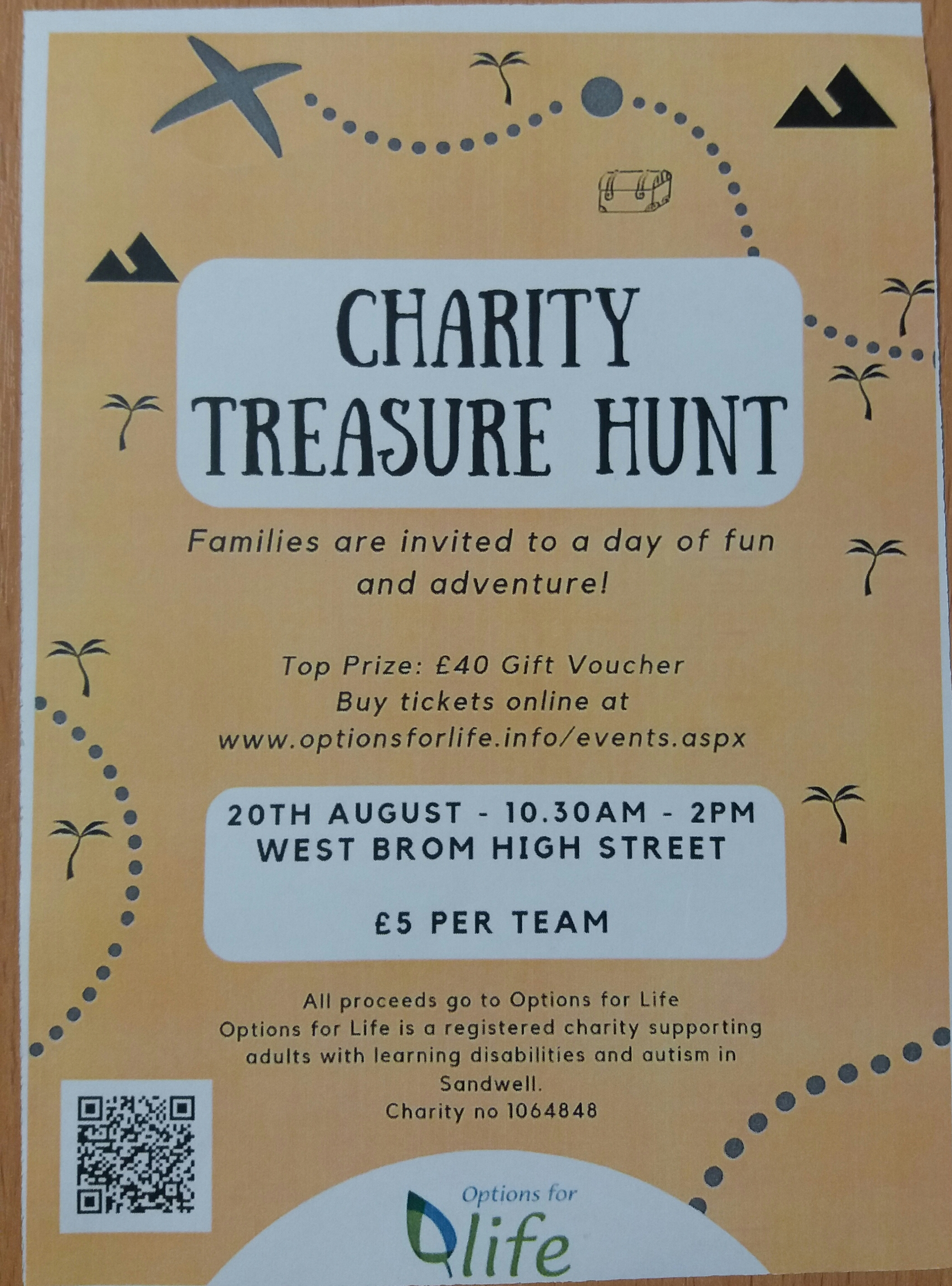 Options for Life Treasure Hunt in West Bromwich -