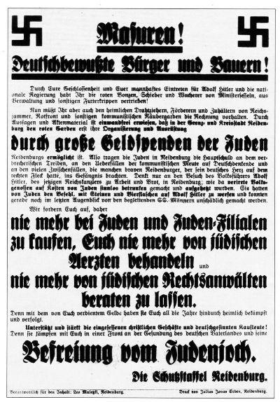 NeidenburgPlakat1933