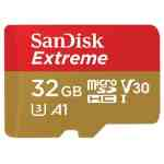 Sandisk Extreme Micro SD kaart 32GB SDHC A1 V30