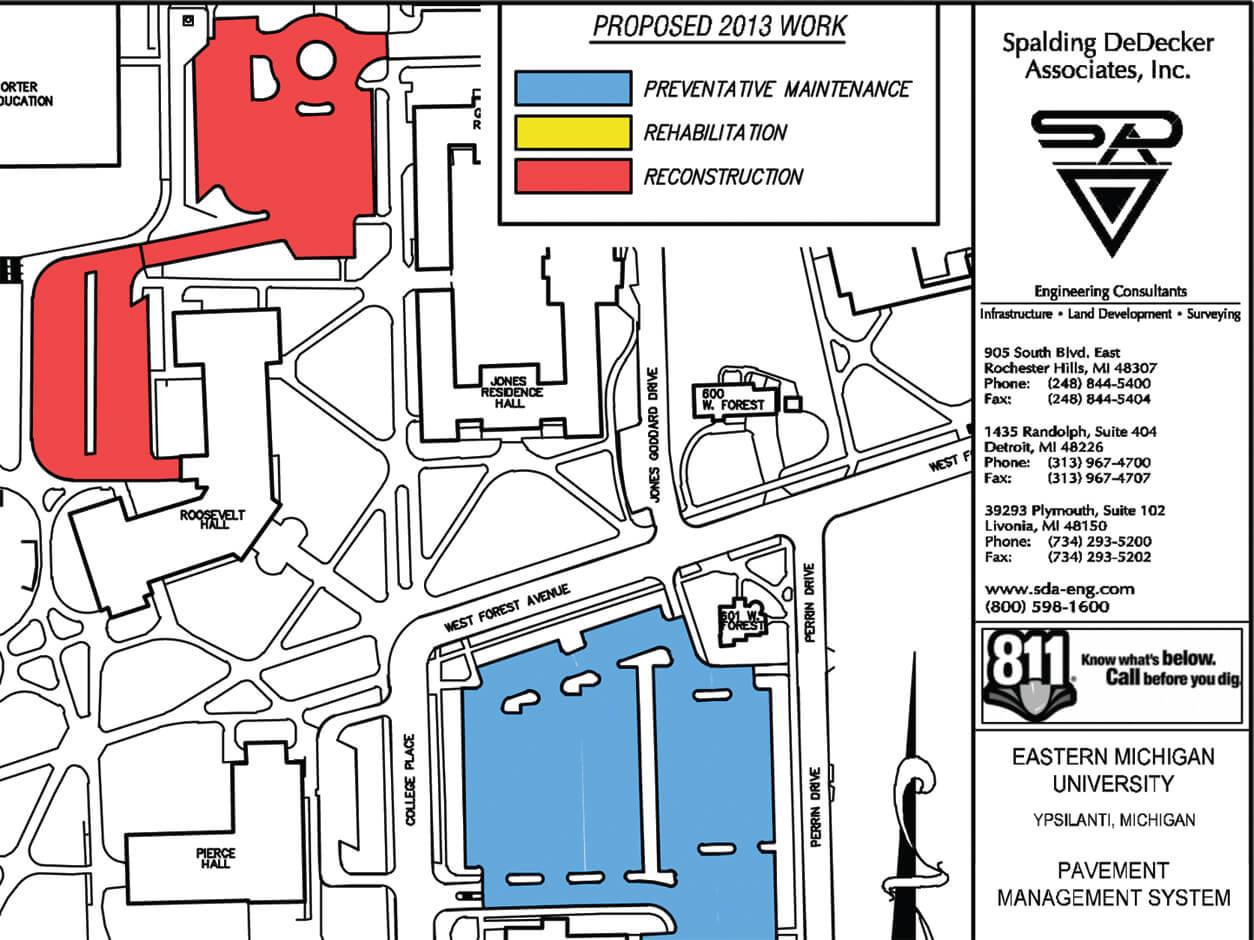 Eastern Michigan University Campus Map