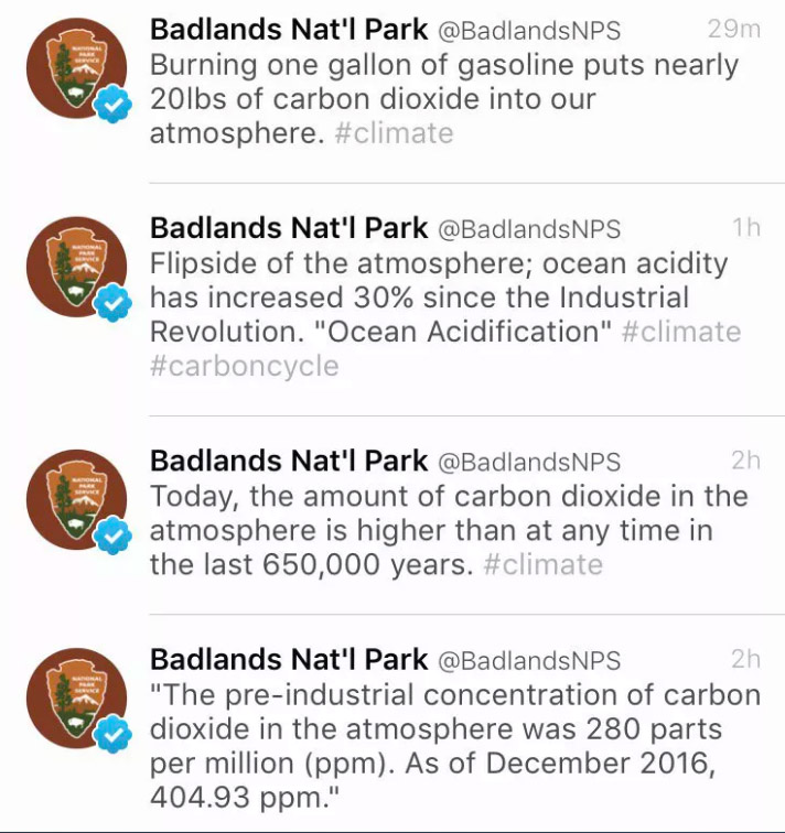 National Park Service - Badlands Tweets