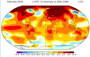 February 2016 Temperature Anomalies