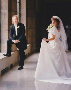 The princess at her wedding