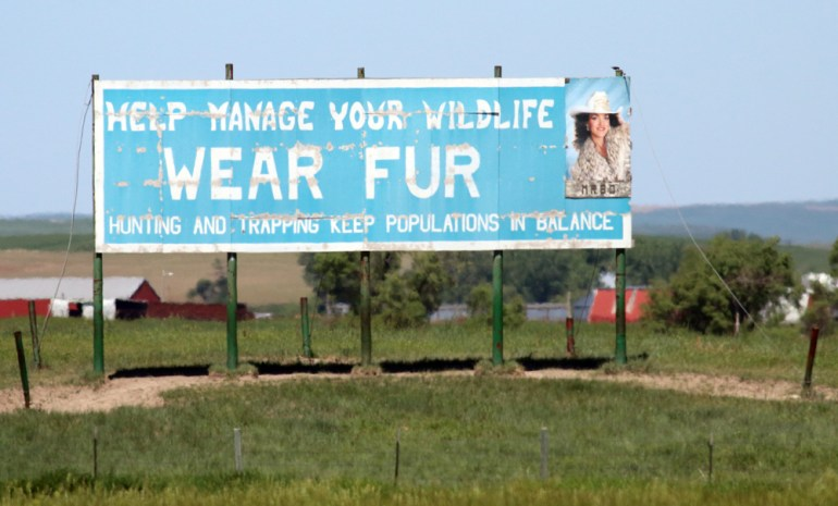 Wear Fur Sign - South Dakota