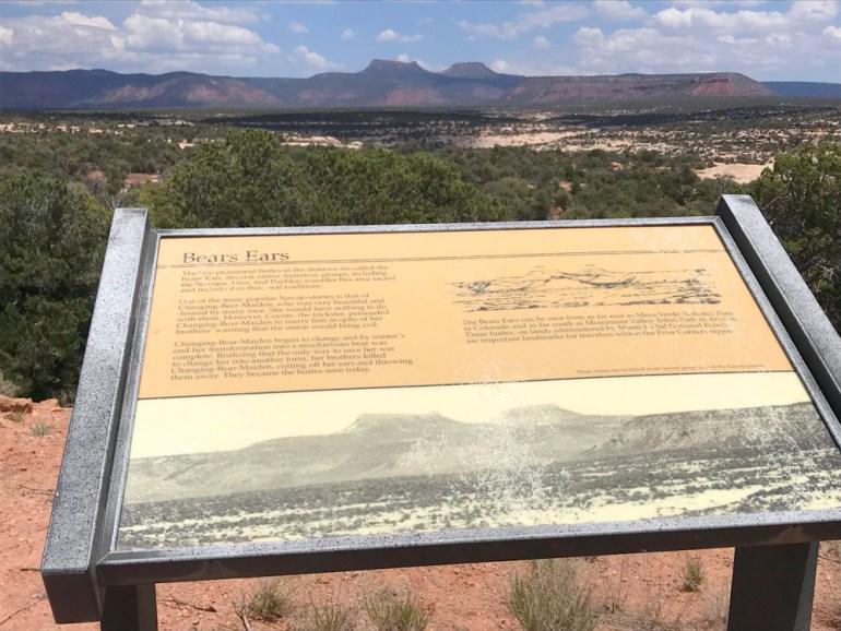 Bear's Ear's National Monument - Sign