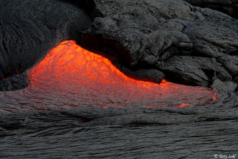 Kilauea Lava - Pu'u 'O'o vent activity