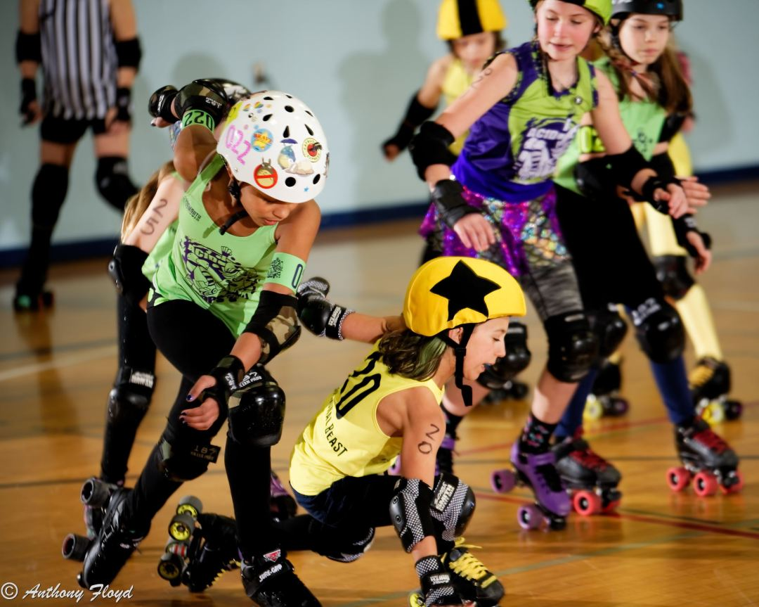 If you skate, falls are going to happen. Seattle Derby Brats teaches skaters how to fall safely and get back up.