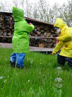 Bubliny v dešti