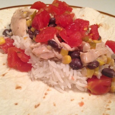 White Chicken Chili Burritos