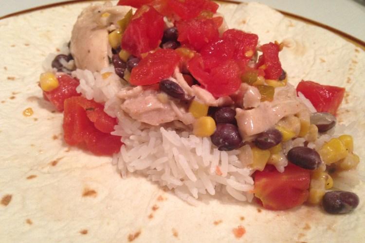 White Chicken Chili Burritos