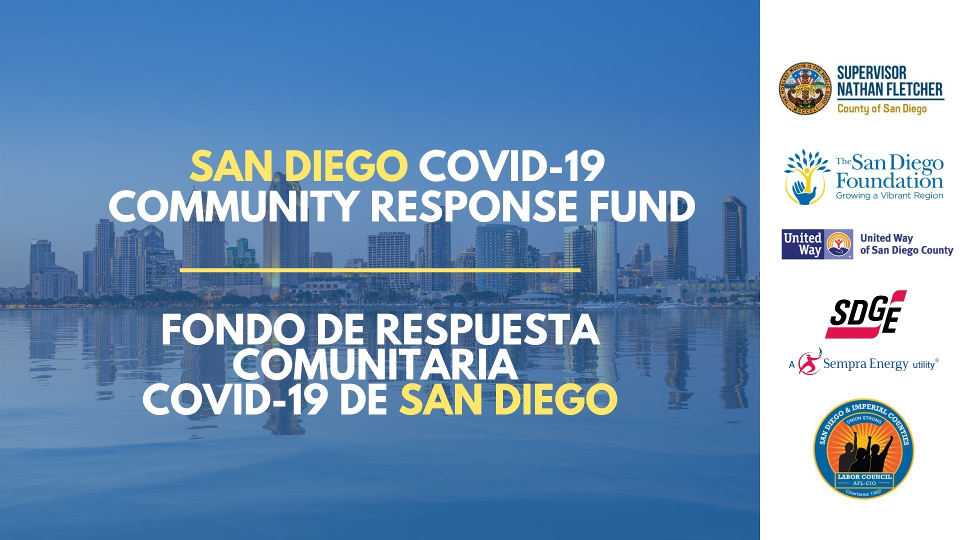 San Diego Leaders Launch COVID-19 Community Response Fund to ...