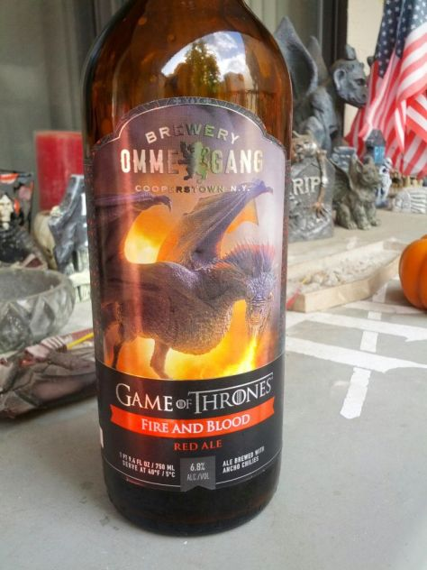 Game of Thrones Fire and Blood Beer.
