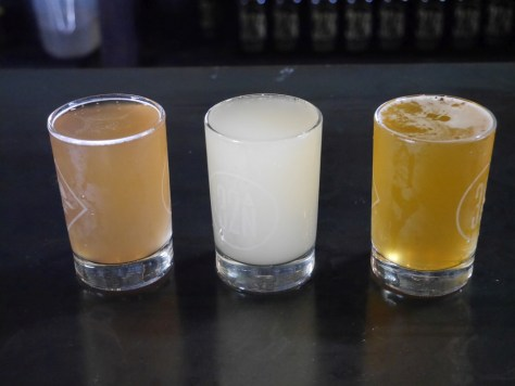 Left to right, blackcurrant, key lime, passion fruit.