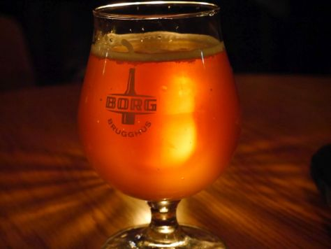 The delicious saison I had on tap.