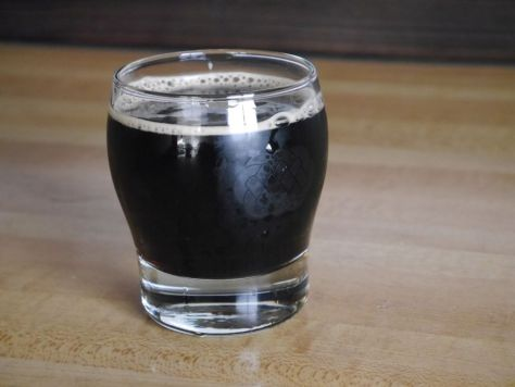 Pour of the stronger coffee beer.