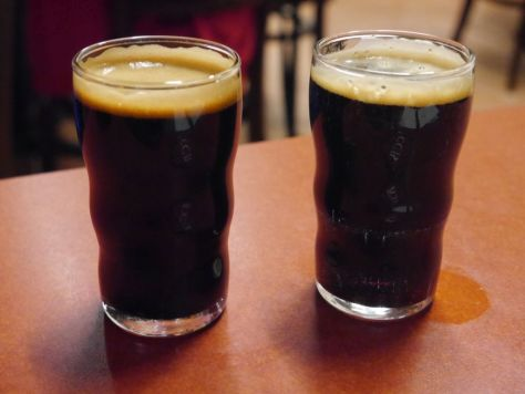 Two stouts I tried at Cigar City.
