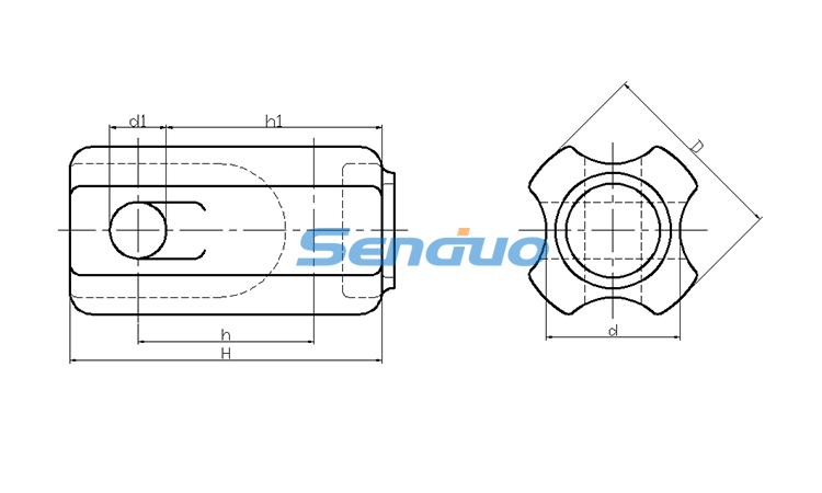 Guy Strain Type Insulator ANSI 54-3_Senduo Insulator