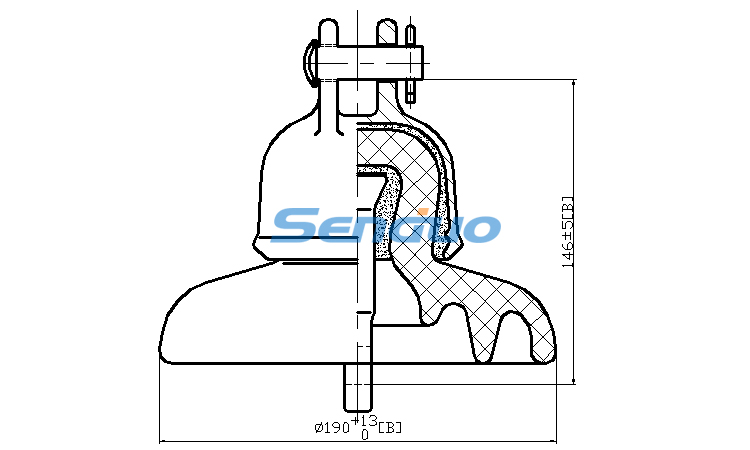 ANSI Class Clevis Types of Disc and Pin Insulators-Senduo