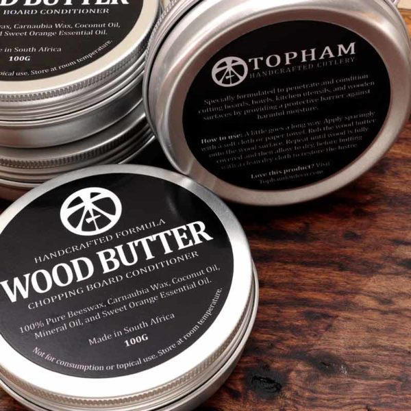 TophamKnifeCo WoodButterTambootie 600x600 1 Topham Wood Butter with Beeswax - 100g  1