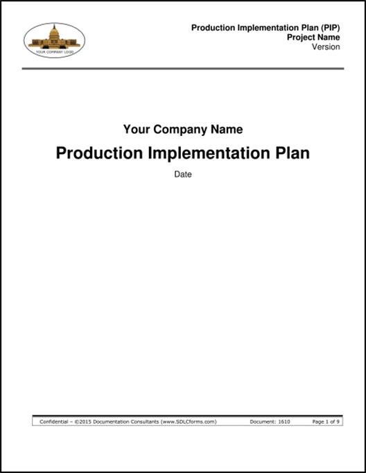 SDLCforms Production Implementation Plan (PIP)