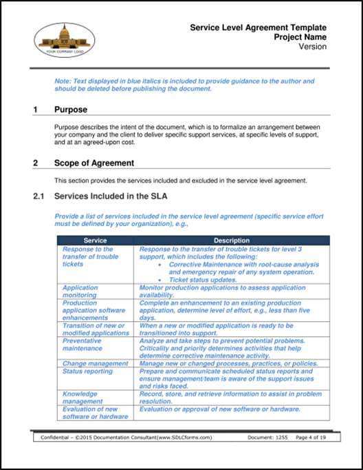 Don't forget to share … Sdlcforms Service Level Agreement Template