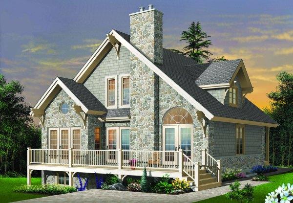 Custom Mountain Home Plan Four Season Cottage