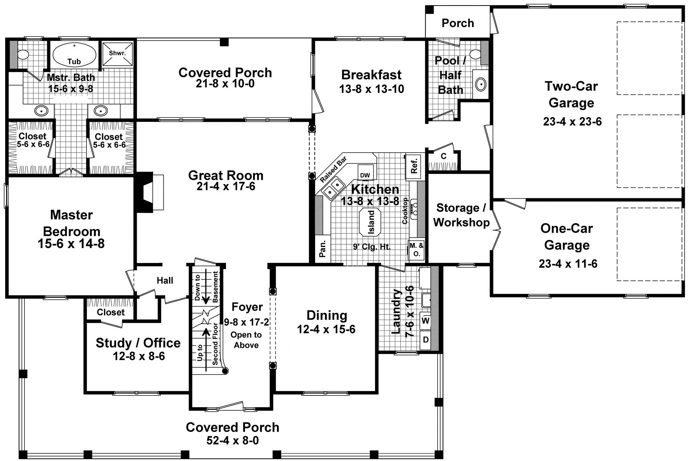 Plan For Two Story Country Style Home