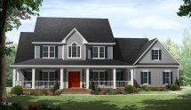 2 Story Country House Plans with Porches