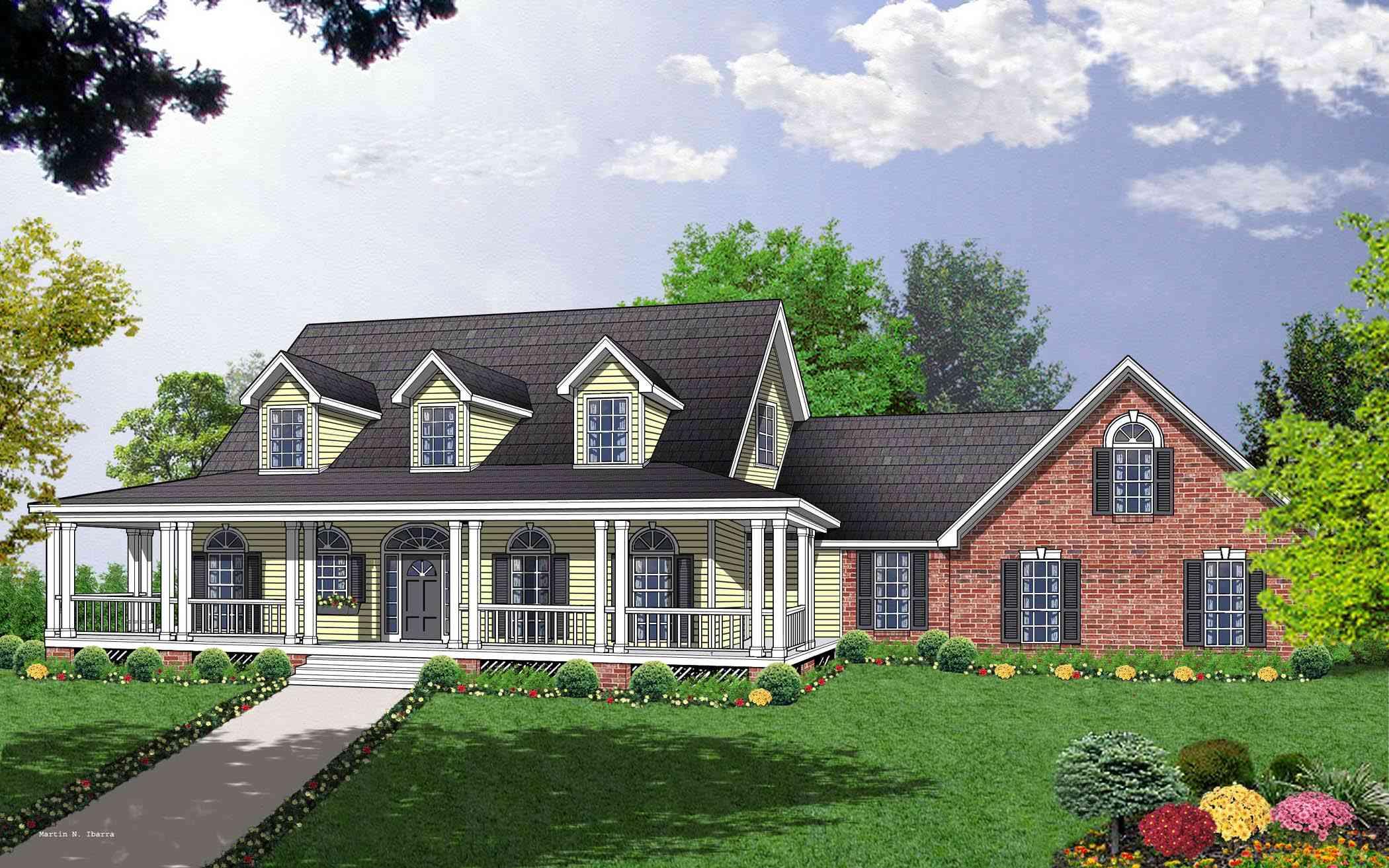 Spacious Custom Cape Cod House Plan