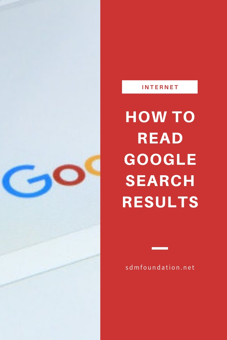 How to read Google search results - getting started