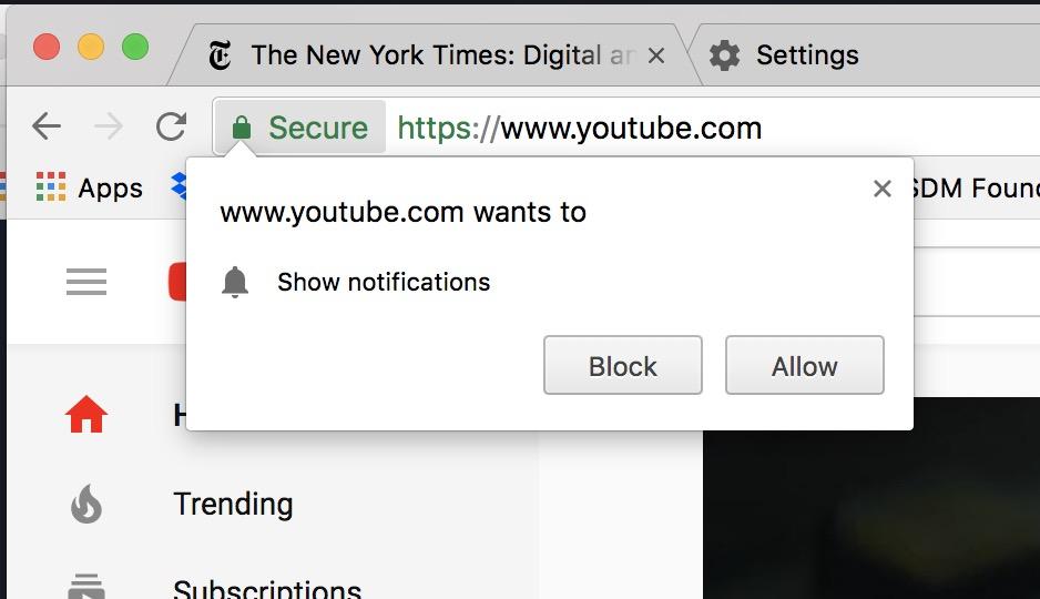 How to Stop a Website from Asking if it can Send Notifications