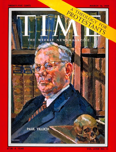 Paul Tillich on the cover of Time Magazine; March 16th, 1959