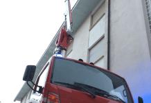 Ad Aìrona Vigili del Fuoco intervengono per mettere in sicurezza un tetto di una casa