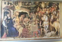 """Beura nella bacheca del municipio per il periodo delle feste c'è la stampa del dipinto """" L'Adorazione dei Magi"""" un opera di Gentile da Fabriano"""