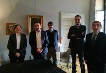 I Novaresi dell'Anno in Comune con il sindaco Alessandro Canelli