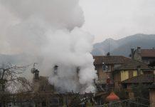 Varallo, a fuoco una casa in via Brigate Garibaldi