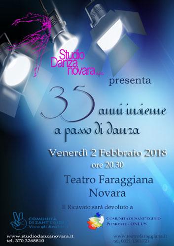 la locandina della serata al Faraggiana di Novara