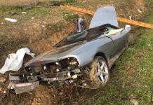 Ferrari distrutta Novara
