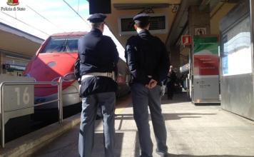controlli pasqua della Polfer tra Novara e Vercelli