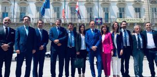 Il presidente Cirio e gli undici assessori