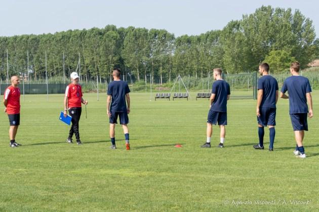 Novara calcio, primo giorno di ritiro