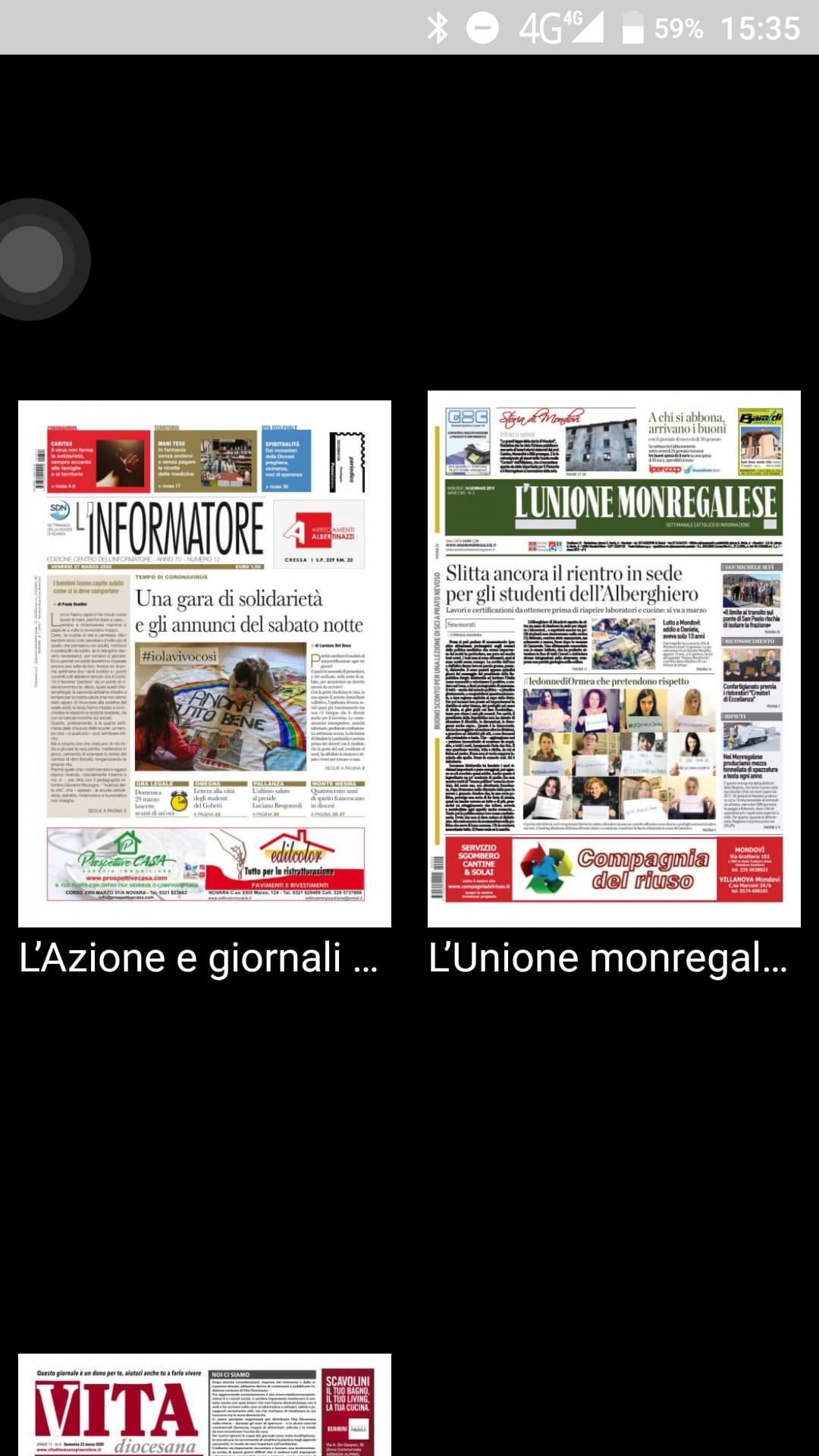 Copia Digitale Gratis Dei Giornali Diocesani Di Novara