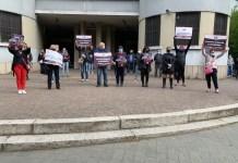 Protesta al Mercato Coperto di Novara