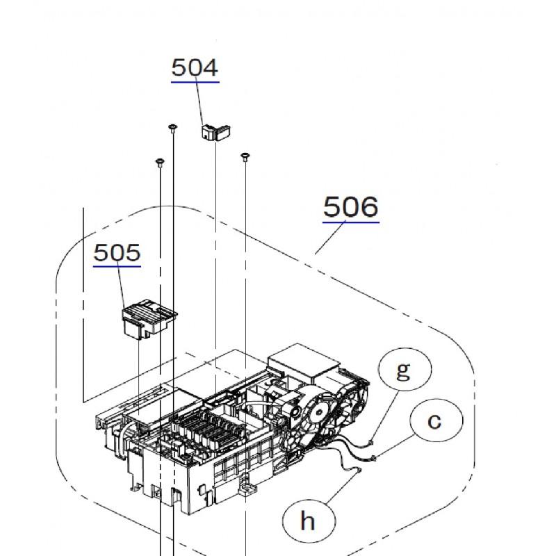 EPSON SureColor SC-F6000/F6070/F6080 Pump Cap Assy